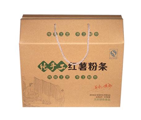 牛皮小粉条箱礼盒